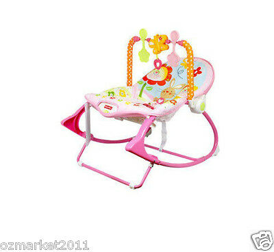 Fashion Pink Security Baby Swing Chair/Electric Rocking Chair/Deck Chair AVA