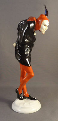 Rare Hutschenreuther Germany Handpainted Porcelain Figurine Of Mephistopheles