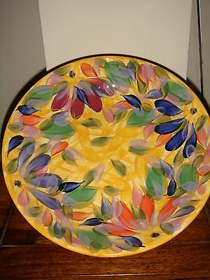 "Designer pottery Hand crafted Modern Plate/bowl  8"" across REDUCED"
