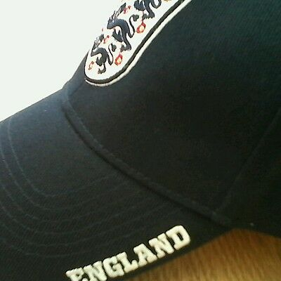 Unisex England 3 Lion Cap In Navy One Size
