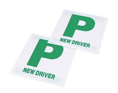 2x High Quality Magnetic P Plates Leaner Pass Driver Easy Removable Sign