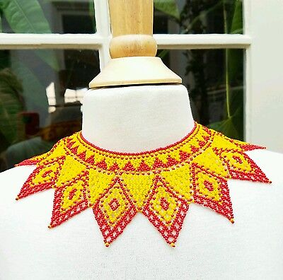 Womens Jewelry Trend African Colorful Bead Collar Ethnic Tribal Bib Necklace