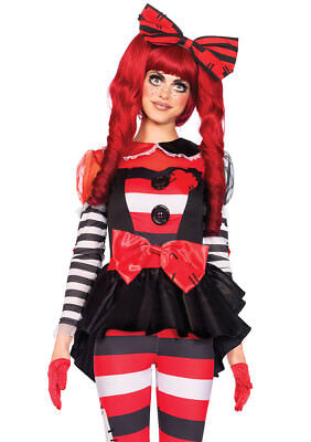 Leg Avenue Women's 3 Piece Rag Doll Costume, Multi-colored