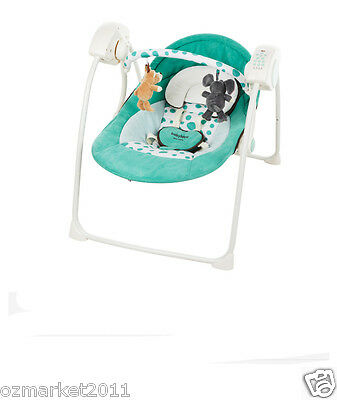 Security Green Comfortable Baby Swing Chair/Electric Rocking Chair+Bed Nets+Mat