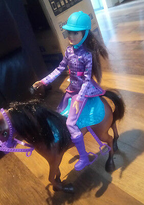 barbie horse and barbie mackie mouth rider in good condition
