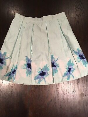 JANIE AND JACK Girls Mint Green Pleated Skirt With Lining Size 12 Yrs.