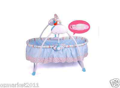 Security Blue Automatic Baby Music Swing Chair/Electric Rocking Chair LM