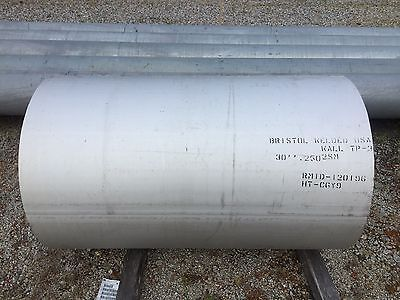 "30"" Pipe Schedule 5 Stainless Steel 304 Domestic ( 4 FT In Length )"