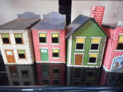 Lot Of 6 West Bros. Tin Candy Containers Firehouse, Toy Store,drugstore.garage