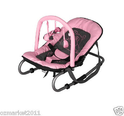 Security Pink Baby Swing Chair/Portable Baby Rocking Chair/Deck Chair JY
