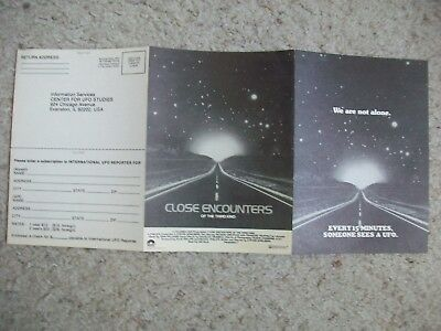 Original Close Encounters Of The Third Kind Ufo 6 Page Leaflet Spielberg