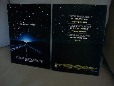 Original Close Encounters Of The Third Kind 2 Sided Ad Poster 8 X 11 Spielberg