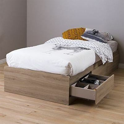 "South Shore Furniture 1282 Fynn Twin Mates Bed (39"") with 3 Drawers"