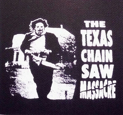 The Texas Chainsaw Massacre / Leatherface- PATCH canvas screen print HORROR