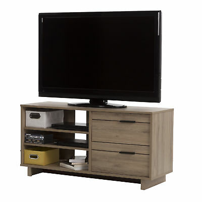 South Shore Furniture Fynn TV Stand with Drawers for TVs upto 55-Inches, Rustic