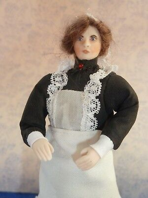 Dolls House 1/12th  Porcelain Character Victorian House Maid