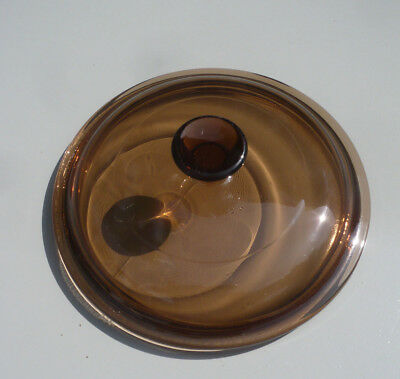 COUVERCLE pour casserole Vision Corning verre Ø16 cm - Smoked glass stewpan LID