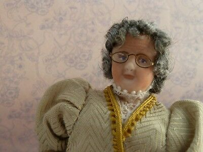 Dolls House 1/12th  Porcelain Character Victorian Grandma