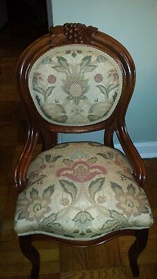 4 Victorian Walnut Chairs c1860-1865 Complete Restoration - Frame and Upholstery