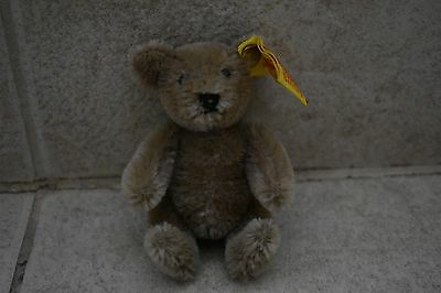 Vintage Steiff Mohair Jointed Miniature Bear- made in West Germany- EUC