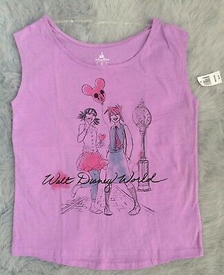 Walt Disney World Parks Large Sleeveless Shirt Hip Fashion Girls Graphic WDW NEW