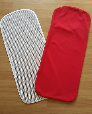 Bugaboo Cameleon 1 and 2 carrycot mattress cover and topper only red