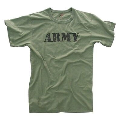 US Army T-shirt Vintage Olive Drab (OD) Green PT Infantry Cavalry Armor Airborne