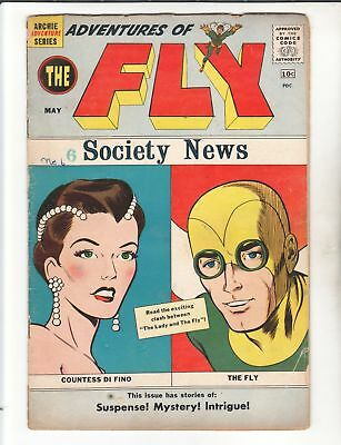 ADVENTURES OF THE FLY Lot #5, 6 & 7 1960 1st Black Hood Appearance