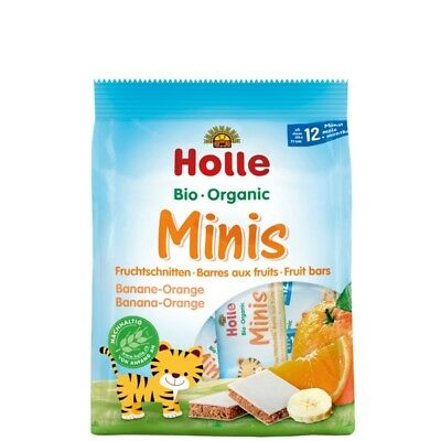 Holle Organic Minis  fruit bars Banana and Orange