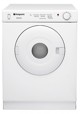 The Hotpoint V4D 01 P (UK) Freestanding Vented Tumble Dryer comes in a classic c