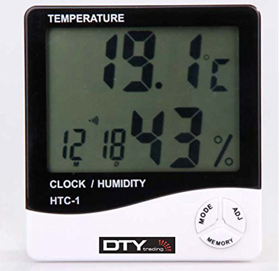 DTY Trading LCD Digital Temperature Humidity Meter Thermometer (White)