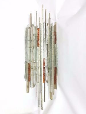 Enorme lampada applique originale poliarte 1960 murano glass sconce 85 cm.