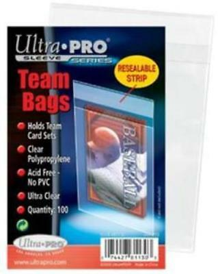100 Ultra Pro Team Set Bags Resealable Sleeves Ultra Clear Holds Team Sets