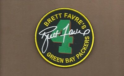 New 4 Inch Brett Favre Green Bay Packers Iron On Patch Free Shipping