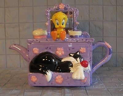 Sylvester And Tweety Collectible Teapot Warner Bros. Studio Store (B11)