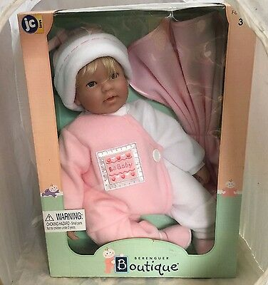 La Baby Baby Girl Infant Berenguer Boutique Baby Blonde Real Life  Rare Nos New