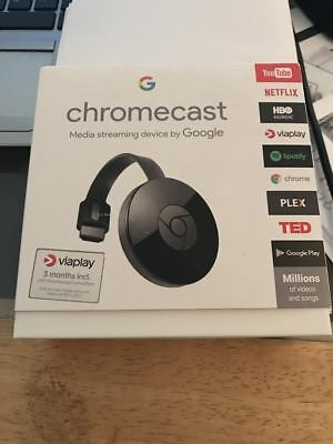Google Chromecast 2 Hdmi Tv/pc Media Streamer - Boxed!