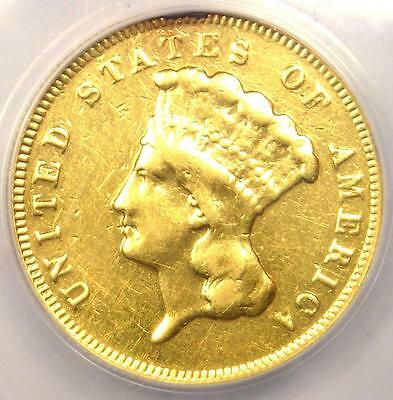 1878 Three Dollar Indian Gold Piece $3 - ANACS VF20 Details - Rare Coin!
