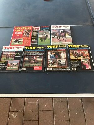 Turf Monthly Magazines Annuals 1987, 90,91,93,94,95 & 96.