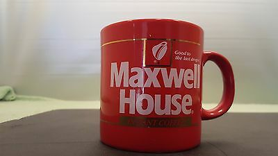 Maxwell House Red Coffee Cup Mug Instant Good To The Last Drop