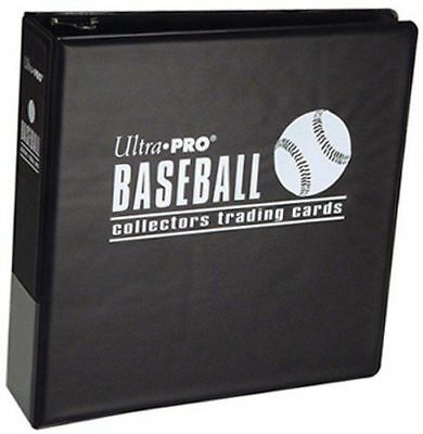 "Ultra Pro 3"" Black Baseballl Collectors Trading Card Album Binder BLACK"