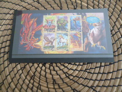 Australia 2011 Mythical Creatures used  mini sheet cancelled to order