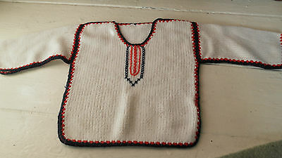 authentic Vintage 1970 retro baby knited jumper kaftan toddler