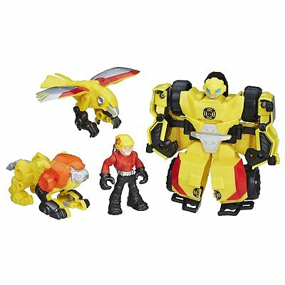 Bumblebee Transformers Rock Rescue Bots Cody Hunter Lion Talon Playskool Heroes