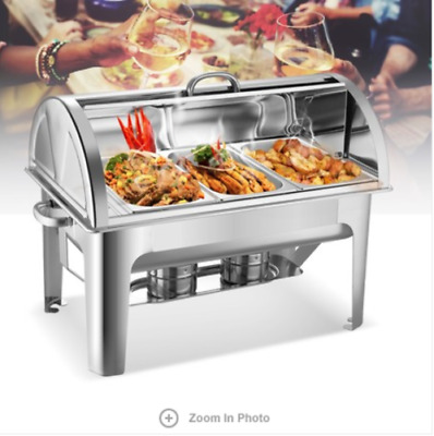 Large Stainless Steel Buffet Food Warmer Party Food Display Holder Bain Marie
