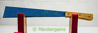 Antique Vintage Machete Corn Knife 15 inch Blue Blade Primitive Farm Tool