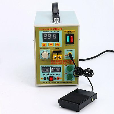 788H LED Dual Pulse Spot Welder 18650 Battery Charger USB Power Bank Test Pro!