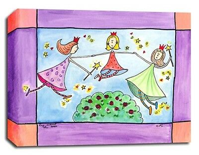 Fairy Princess Rhyme, Prints or Canvas Wall Art Decor, Kids Bedroom Baby Nursery