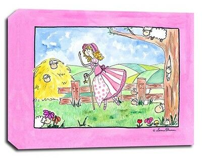 Bo Peep Rhyme Goose, Prints or Canvas Wall Art Decor, Kids Bedroom Baby Nursery
