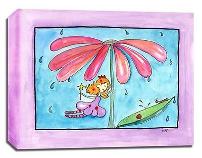 Fairy Flower Rhyme, Prints or Canvas, Wall Art Decor Kids Bedroom Baby Nursery